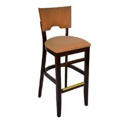 Upholstered Index Barstool in Walnut