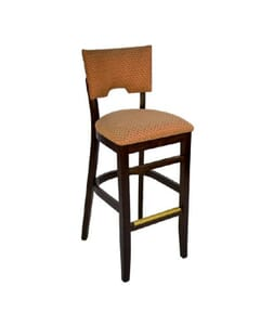 Upholstered Index Barstool in Walnut