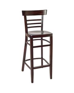 Small Ladderback Barstool in Walnut (Front)