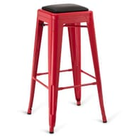 Indoor Steel Backless Barstool - Red Finish