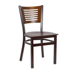 Narrow-Slat Back Metal Side Chair