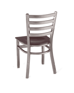 Clear Coated Metal Ladderback Side Chair