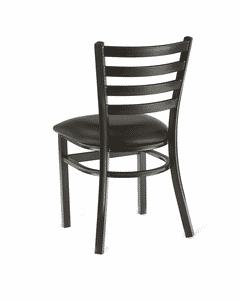 Metal Ladderback Side Chair in Black