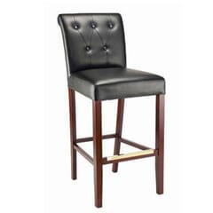 Fully Upholstered Bar Stool with Tufted Back (front)