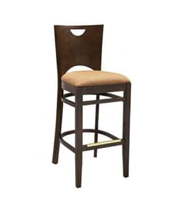 Bella Bar Stool in Walnut Finish (Front)