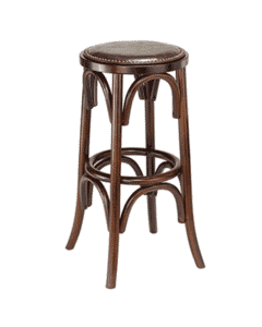 Antique Walnut  Backless Bistro Style Commercial Bar Stool