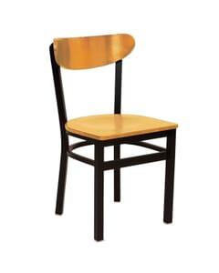 Metal Kidney Side Chair