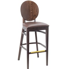 Fully Upholstered Commercial Dining Bar Stool (front)