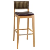 Fully Upholstered Signature Side Bar Stool with Nailhead Trim