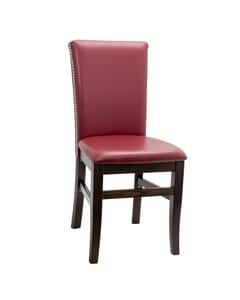 Fully Upholstered Magnolia Side Chair with Nailhead Trim (front)