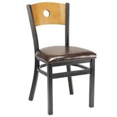 Bullseye Back Metal Side Chair