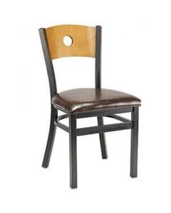 Peekaboo Metal and Wood Chair
