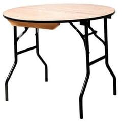 Round Wood Banquet Folding Table