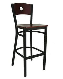 Peekaboo Metal and Wood Barstool