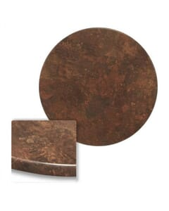 Werzalit Wood Composite Outdoor Dining Table Top in Copper