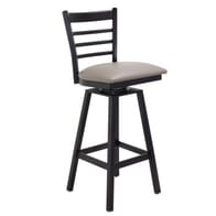 Metal Ladder Back Swivel Barstool