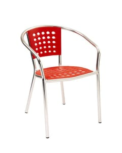 Melamine and Aluminum Arm Chair