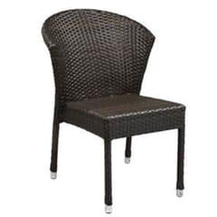 Aluminum & PE Weave Fanback Patio Chair
