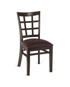 Eco Lattice Side Chair in Walnut