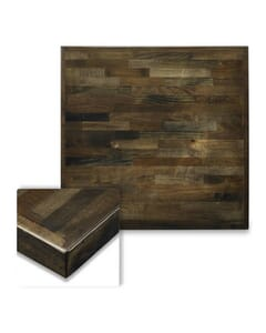 Solid Wood Butcherblock Table Top in Smoky Grey Finish