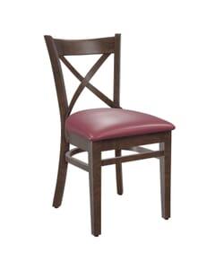 European Cross Back Side Chair