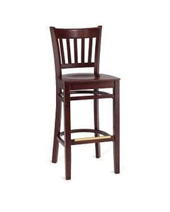 Vertical-Back Commercial Bar Stool