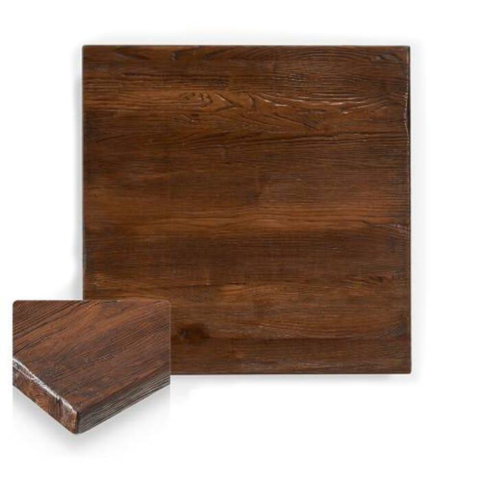 Reclaimed Elm Wood Dining Table Top In Dark Walnut