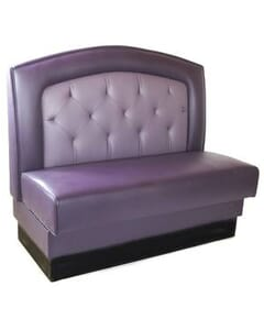 Round Back Tufted Booth