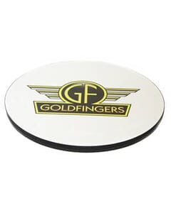 The Round Laminate Logo Table Top with T-Mold Edge