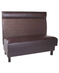 Trafalgar Upholstered Booth with Headroll and Wood Legs