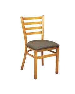 Metal Ladderback Side Chair in Cherry