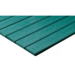 Green Synthetic Teak Wood Patio Table Top