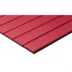 Red Synthetic Teak Wood Patio Table Top