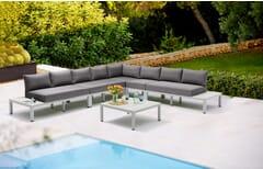Miami Modular Web Gray Outdoor Lounge Set
