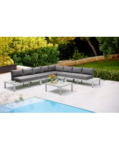 Miami Modular Web Gray Outdoor Lounge Set