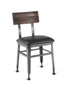 Reclaimed Wood-Back Steel Chair
