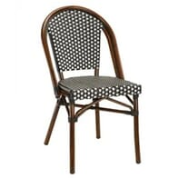 Marina Wicker and Bamboo Look Outdoor Chair