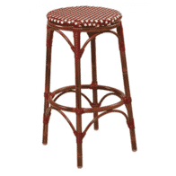 Aluminum Bamboo Look Backless Bar Stool
