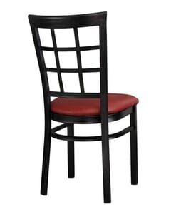 Lattice Back Metal Side Chair