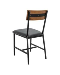 Red Oak Wood Industrial Steel Frame Restaurant Chair