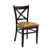 Solid Beech Wood Cross-back Commercial Dining Chair
