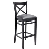 European Cross Back Barstool