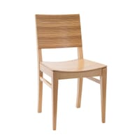 Signature Side Chair with Zebra Style Pattern