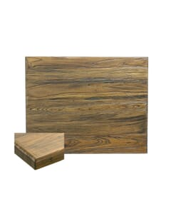Reclaimed Elm Wood Square Dining Table Top In Light Walnut