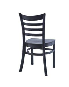 Stackable Ladderback Indoor/Outdoor Restaurant Chair in Black