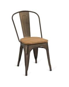 Indoor Steel Chair - Bronze Finish