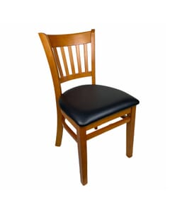 1 Lot of 21 Units - European Beechwood Vertical-Back Commercial Chair in Cherry