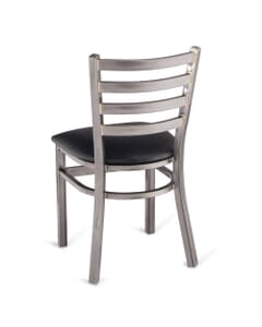 Metal Ladderback Side Chair in Distressed Clear Coat