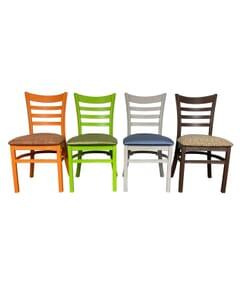 Stackable Ladderback Indoor/Outdoor Restaurant Chair
