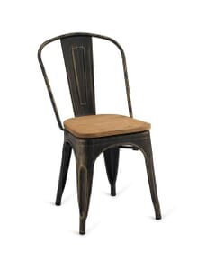 Indoor Steel Chair - Aged Copper Finish